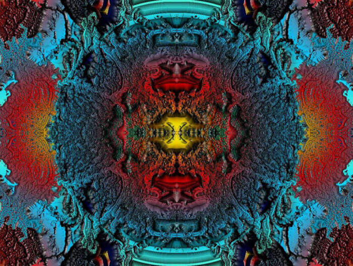 Supernove Kunstdruck auf Leinwand